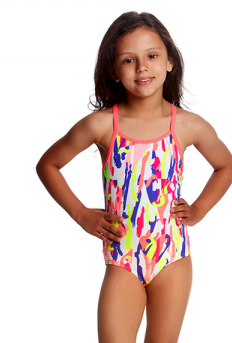 Heart Splatter Funkita  Toddlers Girls