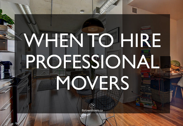 When To Hire Professional Movers