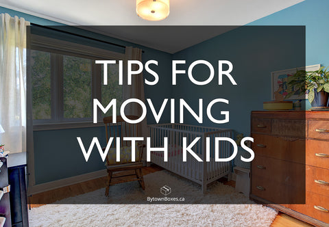 Moving With Kids in Ottawa Boxes and Toys