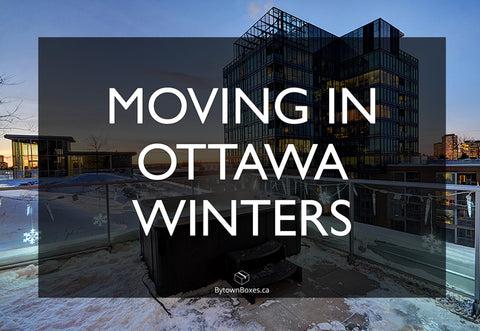 Tips for moving in Ottawa Winters - Moving Boxes and Moving Supplies