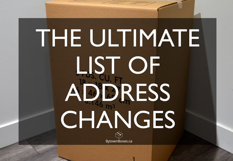 The ultimate list of address changes when moving in Ottawa