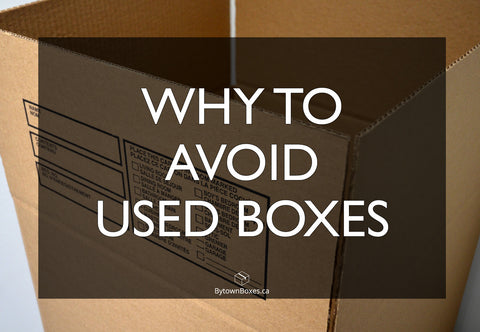 Why should you avoid using used moving boxes in Ottawa?