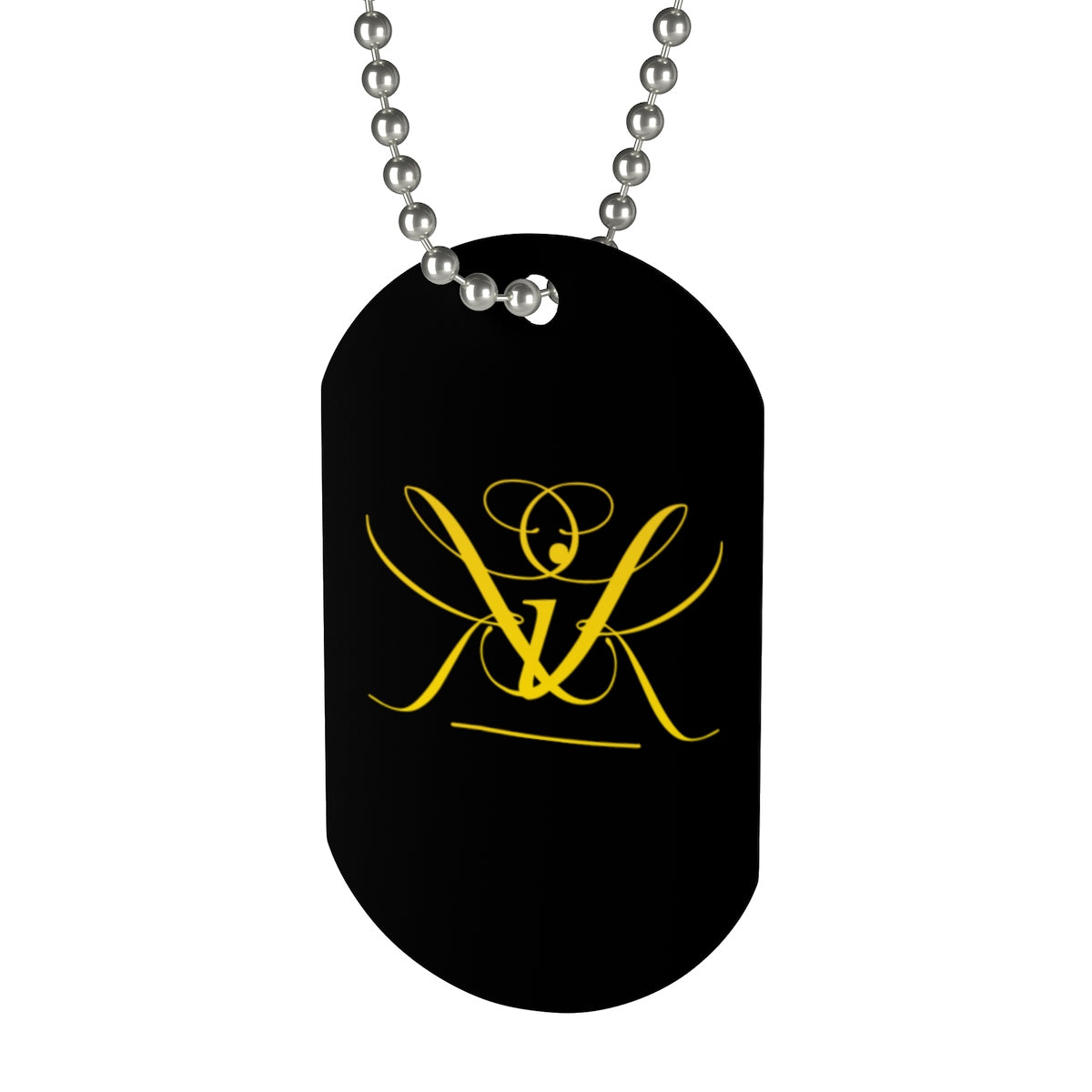 Gold Crown - Dog Tag