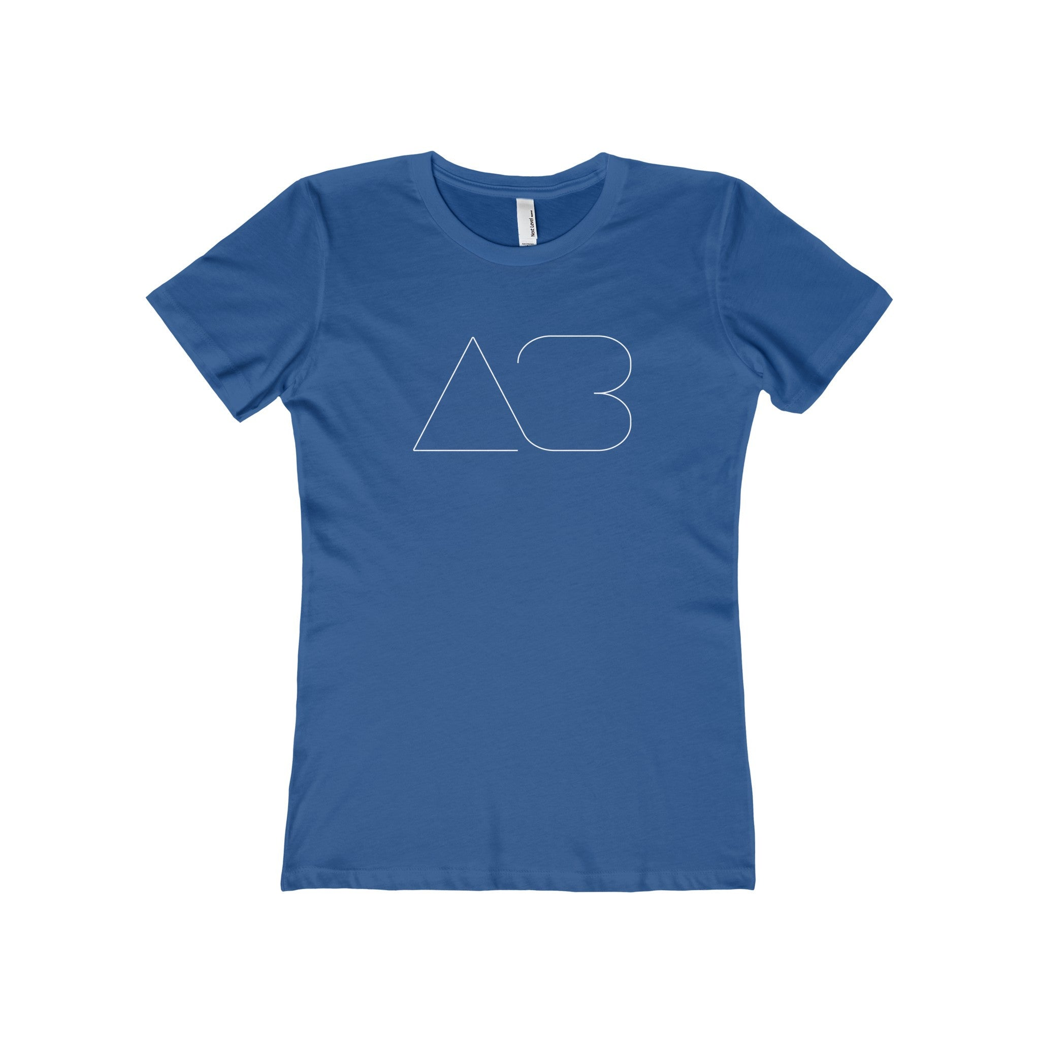 "AB (White) - Women's ""Boyfriend Tee"""