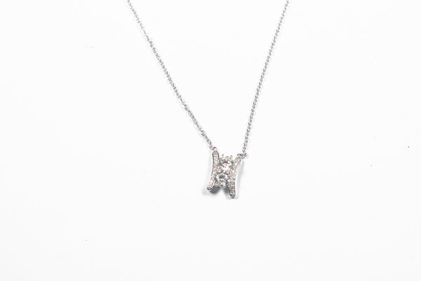 Lafonn Sterling Silver Two Stone Ladder Necklace