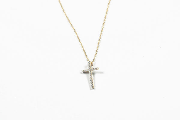 Lafonn Sterling Silver with Gold Plate Small Cross Necklace