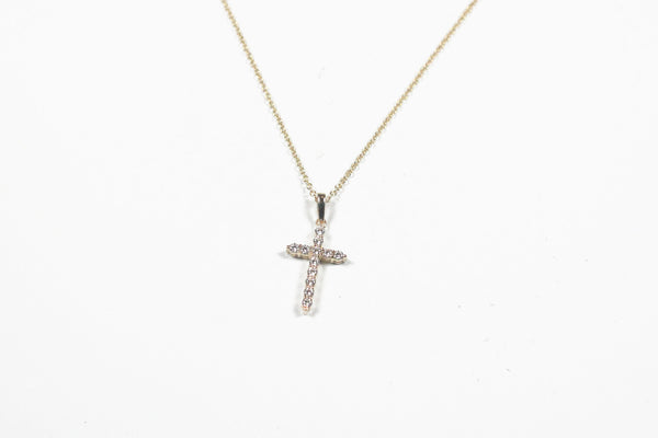Sterling Silver with Gold Plate Cross Necklace