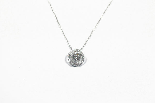 Sterling Silver Knot Halo Necklace