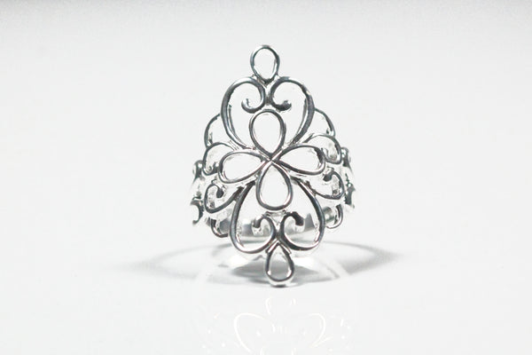 Sterling Silver Ornate Filigree Ring