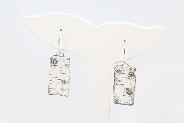 Clay Birch Bark Elongated Earrings