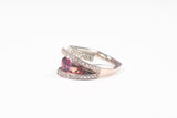 Frank Reubel Two-tone Pink Topaz Ring