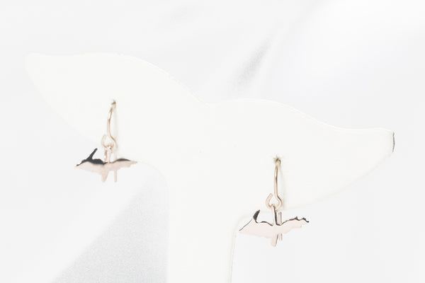 Rose Gold Upper Peninsula Dangle Earrings
