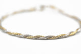 White Gold and Yellow Gold Twist Bracelet