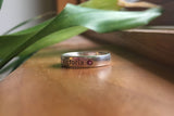 Customized 4mm Sterling Silver Upper Peninsula Ring