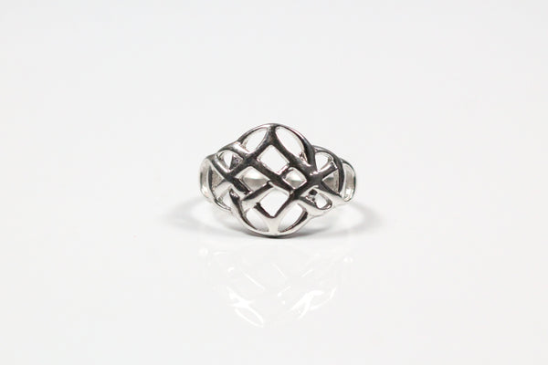 Sterling Silver Domed Woven Ring