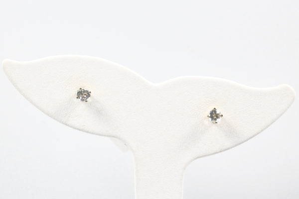 Yellow Gold Aquamarine Stud Earrings