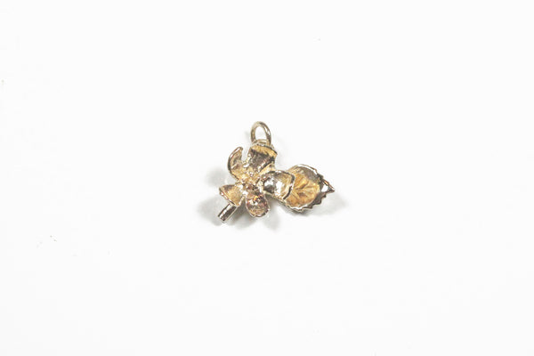 Yellow Gold Apple Blossom Pendant