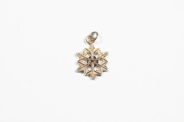 Yellow Gold Intricate Snowflake Pendant
