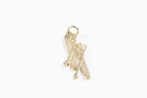 Yellow Gold Ski Pendant