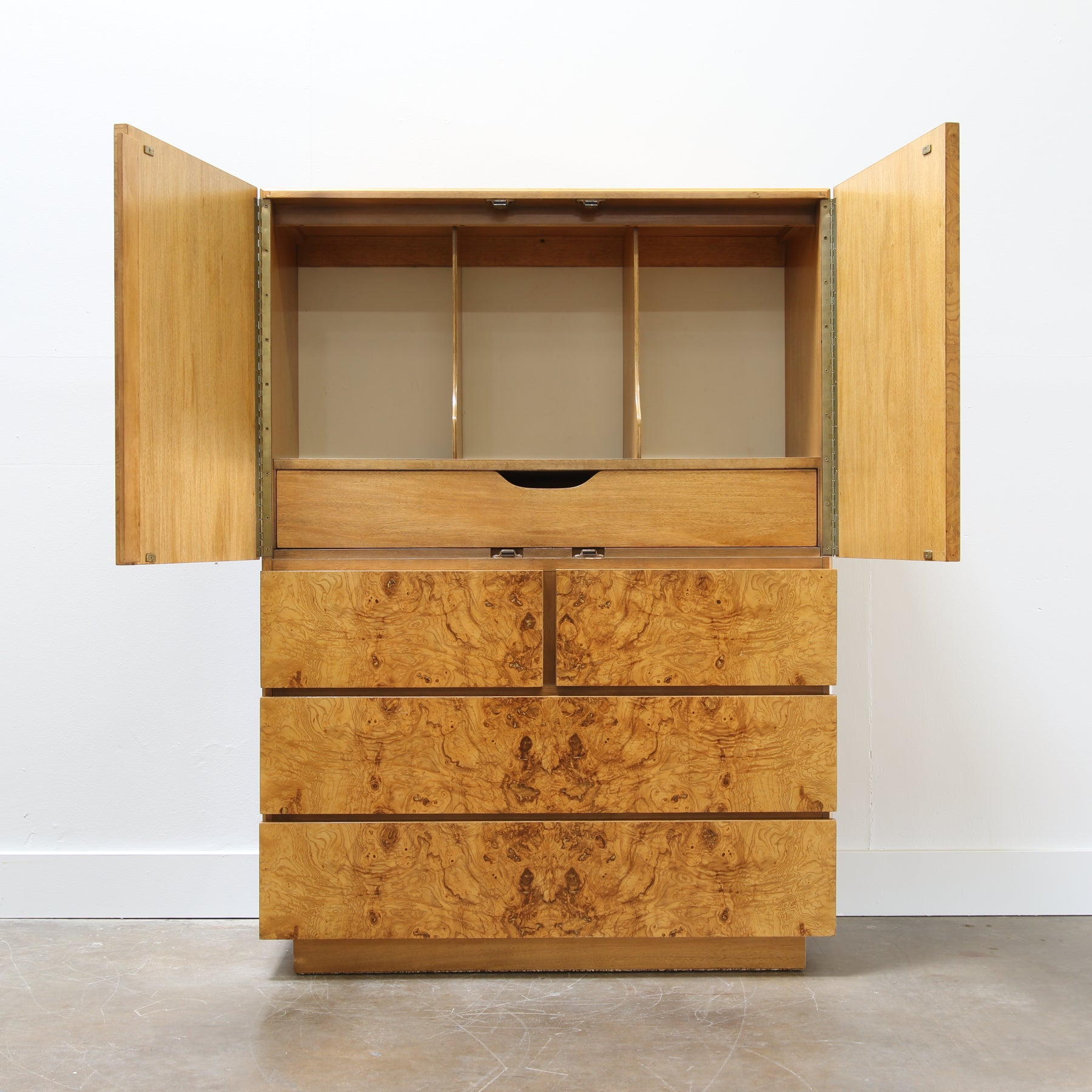 Burl Wood Chest By Roland Carter For Lane Furniture   HIKOs