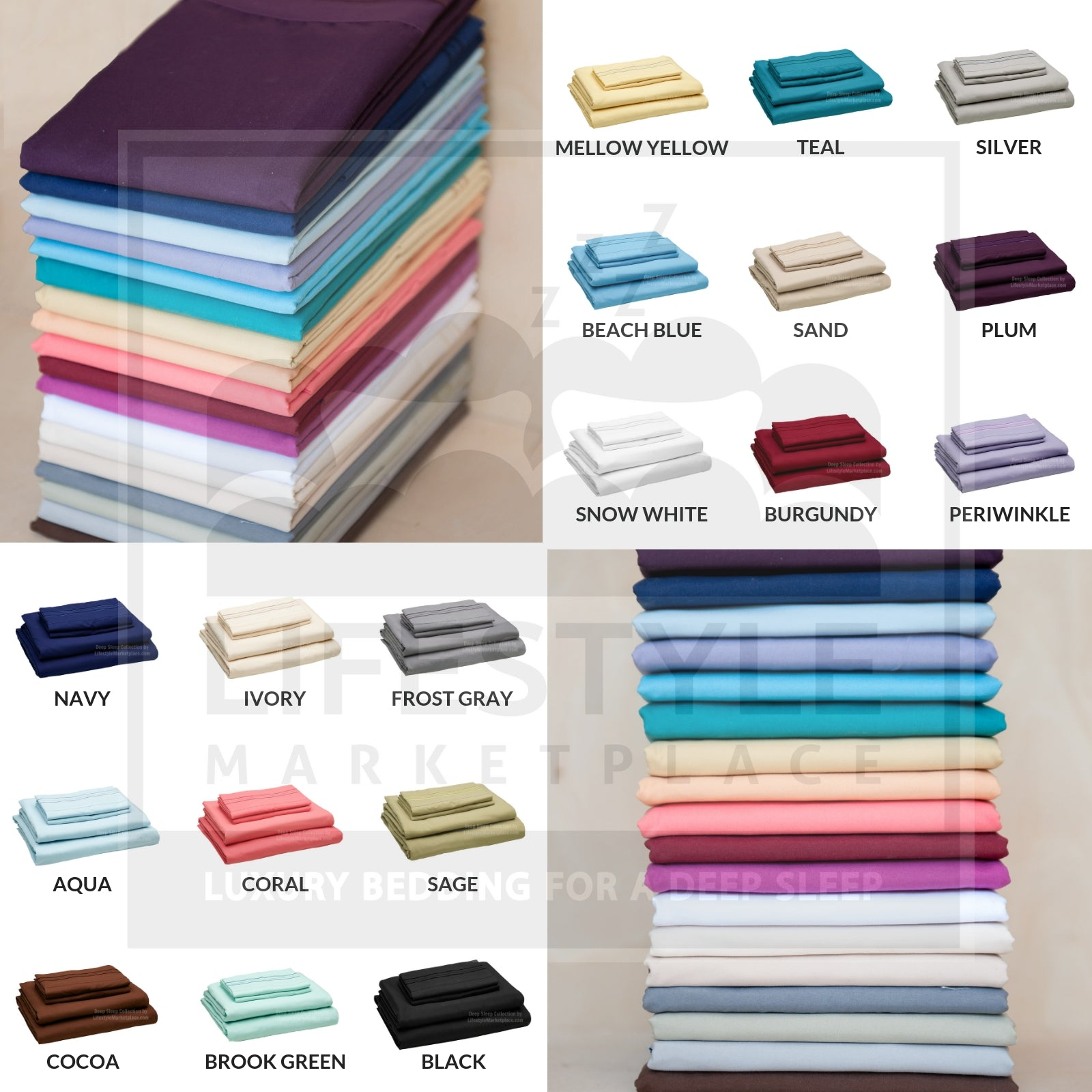 Lifestyle Marketplace Deep Sleep Sheets Icons