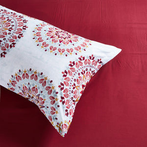 Lifestyle Marketplace Crimson Mandala Duvet Cover Set Pillow Sham