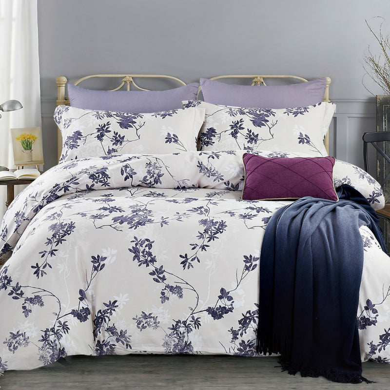 Lifestyle Marketplace Perfect Plumeria 3 pc Duvet Cover Set
