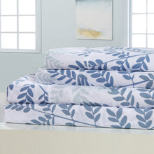 Load image into Gallery viewer, Dreamstate® 'Blue Botanical' Printed Sheet Set