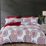 Lifestyle Marketplace Crimson Mandala 3-Piece Duvet Cover Set