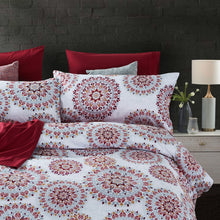 Load image into Gallery viewer, Dreamstate® Crimson Mandala 3-Piece Duvet Cover Set