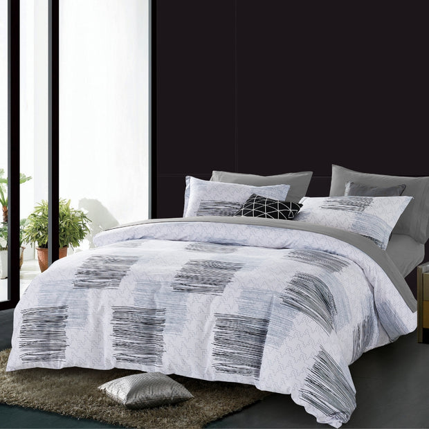 Lifestyle Marketplace Modern Sketch 3-Piece Duvet Cover Set