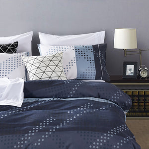 Dreamstate® Printed Monochromatic 3-Piece Duvet Cover Set