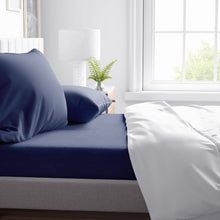 Load image into Gallery viewer, Twilight Navy Blue Sheet Set