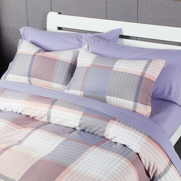 Lifestyle Marketplace Pretty Plaid 3 pc Duvet Cover Set