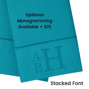 Teal Pillowcase Set