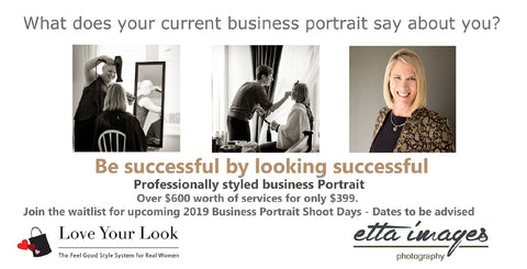 2019 Styled Business Portrait Shoot Days - Friday 18th October & Saturday 19th October