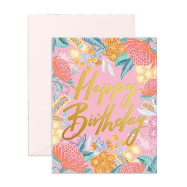 Greeting Card - Wildflower Birthday - Oxley and Moss