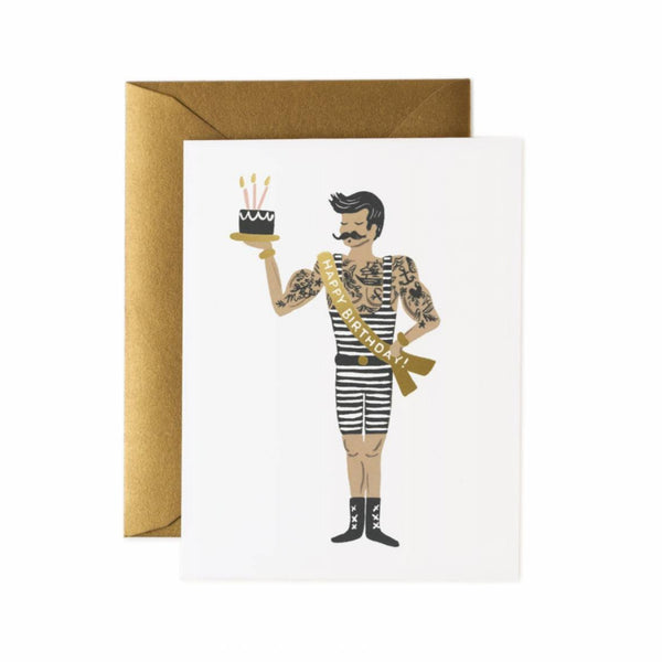 Greeting Card - Strongman Birthday - Oxley and Moss