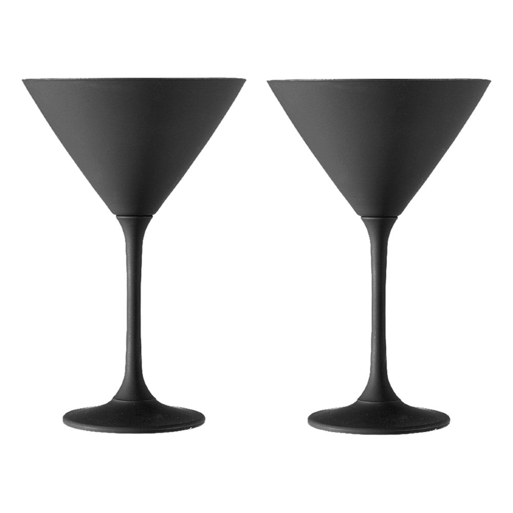 Aurora Black Martini Glass 2 pk