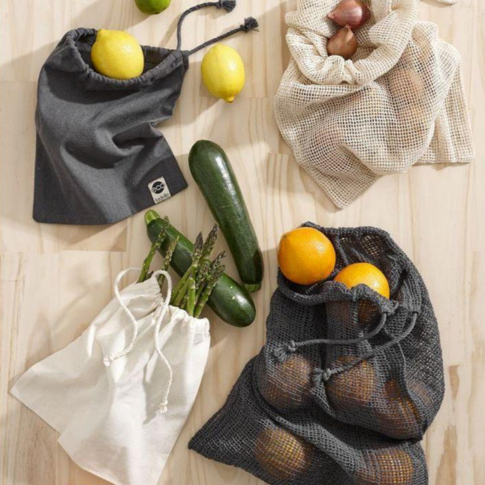 Eco Recycled Fabric Produce Bag Set