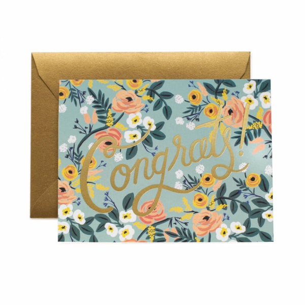 Greeting Card - Blue Meadow Congrats - Oxley and Moss