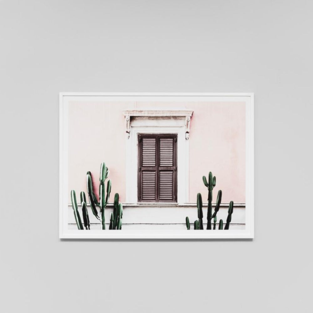 Blush Villa Framed Print