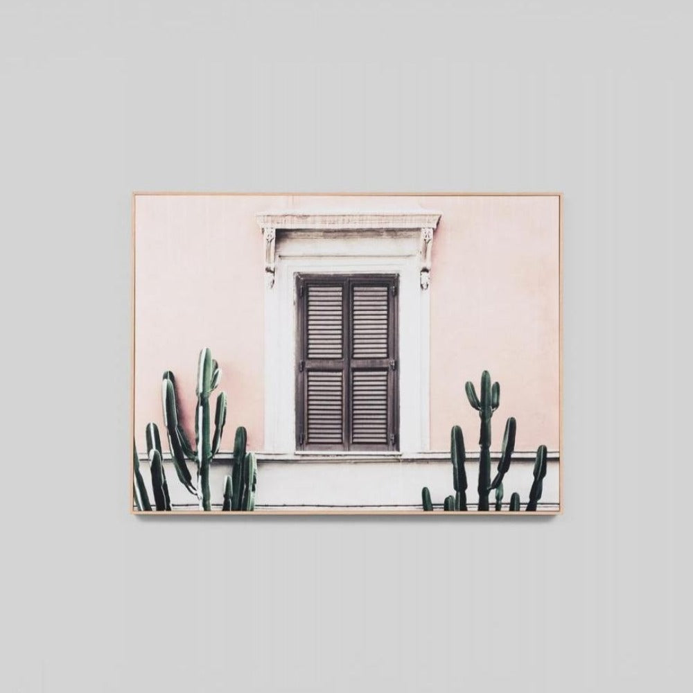 Blush Villa Canvas Print