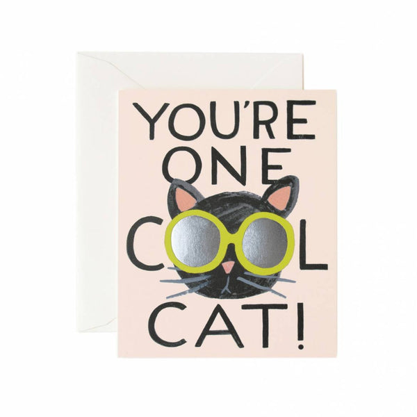 Greeting Card - Cool Cat - Oxley and Moss