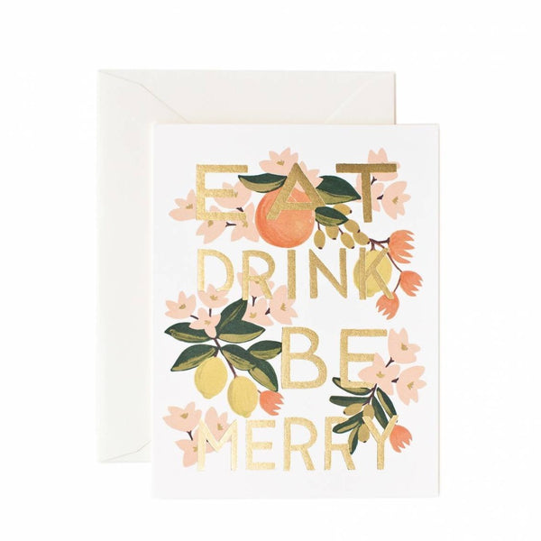 Greeting Card - Eat Drink & Be Merry - Oxley and Moss