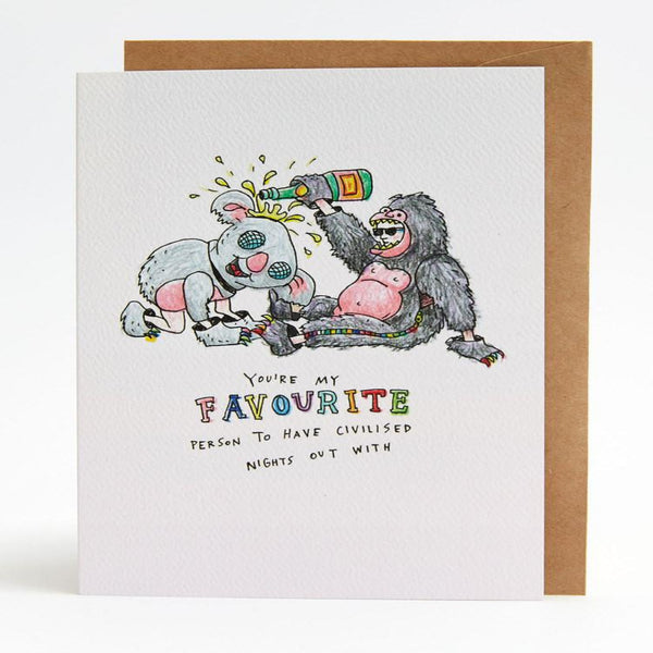 Greeting Card - You're My Favourite - Oxley and Moss