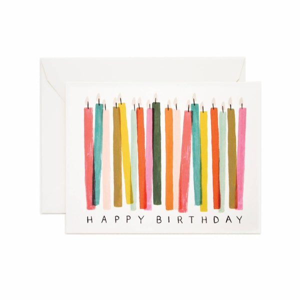 Greeting Card - Birthday Candles - Oxley and Moss