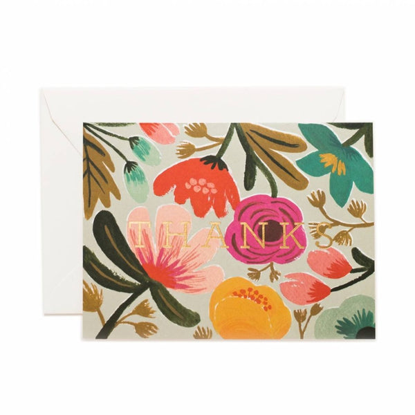 Greeting Card - Floral Thank You - Oxley and Moss