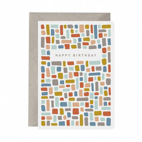 Greeting Card - Happy Birthday Bricks - Oxley and Moss
