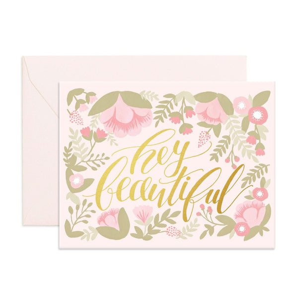 Greeting Card - Hey Beautiful - Oxley and Moss